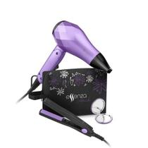 Kit Viagem Essenza Mini Secador Bivolt 1000W + Mini Chapinha de Viagem 20W Espelho e Bolsa - EB052 - Multilaser