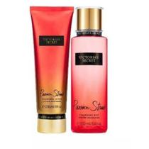 Kit Victorias Secrets Hidratante + Body Splash Passion Struck 250ml