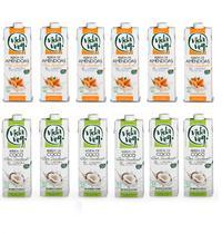 Kit Vida Veg com 6 bebidas de amêndoa 1l + 6 Bebida Coco 1l -