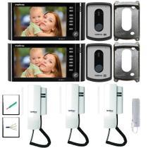 Kit Video Interfone Intelbras 2 entradas e 5 Pontos Internos -