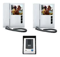 Kit Video Porteiro Eletrônico HDL Sense Classic S Colorido Com 2 Monitores -