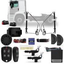 Kit Vidro Elétrico Caminhão Constellation 07 a 18 12V Sensorizado + Alarme Pósitron e Trava Elétrica - Kit Segurança