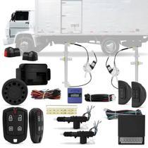Kit Vidro Elétrico Caminhões Volkswagen Até 2006 2 Portas 12V + Alarme Pósitron e Trava Elétrica - Kit Segurança