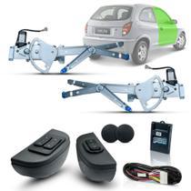 Kit Vidro Eletrico Celta 2 Portas Inteligente Azul - Dial