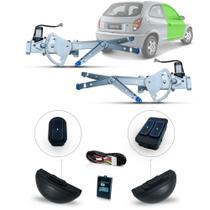 Kit Vidro Eletrico Celta 2 Portas Inteligente UltraLED Azul - Dial