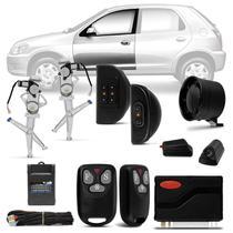Kit Vidro Elétrico Celta 2002 A 2015 Prisma 2006 A 2012 Dianteiro Sensorizado + Alarme Sistec SXT986 - Prime