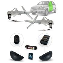 Kit Vidro Eletrico Celta 4 Portas Dianteiro Inteligente UltraLED Ambar - Dial