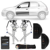 Kit Vidro Elétrico Celta Prisma 2002 A 2015 Prisma 2006 A 2012 4 Portas Dianteiro Sensorizado - Dial