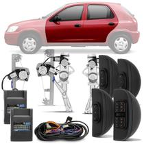 Kit Vidro Elétrico Chevrolet Celta 2002 A 2016 Prisma 2006 A 2012 Sensorizado 4 Portas Completo - Dial
