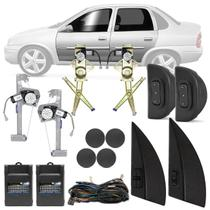 Kit Vidro Elétrico Corsa Hatch Sedan 1999 A 2002 Classic 1998 A 2016 Sensorizado 4 Portas Completo - Dial