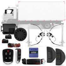 Kit Vidro Elétrico Delivery Worker 2007 a 2018 Caminhão com Sensor + Alarme Pósitron PX360 Bluetooth - Kit Segurança