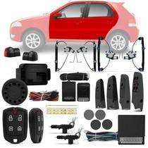 Kit Vidro Elétrico Fiat Palio 2006 a 2011 Sensorizado 4 Portas + Alarme Pósitron + Trava Eletrica - Kit Segurança