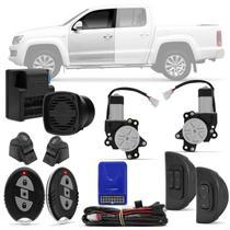 Kit Vidro Elétrico Ford Amarok 11 A 18 2 E 4 Portas Sensorizado Dianteiro + Alarme H-Buster HBA-2000 - Prime