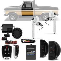 Kit Vidro Elétrico Ford F1000 F4000 F600 F100 Dianteiro Sensorizado + Alarme Pósitron Função Pânico - Kit Segurança