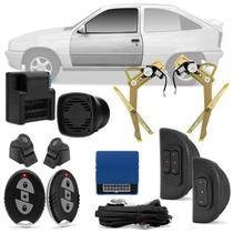 Kit Vidro Elétrico Ford Kadett Ipanema 89 A 98 2 Portas Sensorizado + Alarme H-Buster HBA-2000 - Prime