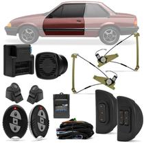 Kit Vidro Elétrico Ford Monza 86 A 96 2 Portas Sensorizado Completo + Alarme H-Buster HBA-2000 - Prime