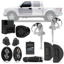 Kit Vidro Elétrico Ford Ranger 97 A 12 2 E 4 Portas Sensorizado Dianteiro + Alarme H-Buster HBA-2000 - Prime