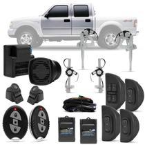 Kit Vidro Elétrico Ford Ranger Cabine Dupla 98 A 12 Sensorizado Completo + Alarme H-Buster - Prime
