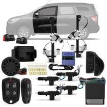 Kit Vidro Elétrico GM Spin 2012 a 2018 Dianteiro Sensorizado + Alarme Pósitron e Trava Elétrica - Kit Segurança