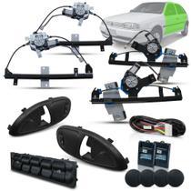 Kit Vidro Eletrico Gol G2 Bola 4 Portas Completo Preto Inteligente - Dial