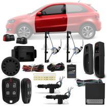 Kit Vidro Elétrico Gol G6 G7 Saveiro G5 G6 G7 Sensorizado 2P + Alarme Pósitron e Trava Elétrica - Kit Segurança