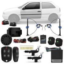 Kit Vidro Elétrico Gol Parati G2 1996 a 1999 Sensorizado 2 Portas + Alarme Pósitron e Trava Elétrica - Kit Segurança