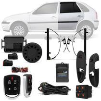 Kit Vidro Elétrico GOL Parati G3 2000 A 2005 4 Portas Sensorizado Traseiro + Alarme Pósitron - Kit Segurança