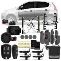 Kit Vidro Elétrico Novo Palio 2012 a 2018 Sensorizado + Alarme Pósitron e Trava Elétrica 4 Portas - Kit Segurança