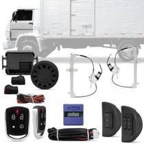 Kit Vidro Elétrico Sensorizado Caminhões Volkswagen Até 2006 2 Porta + Alarme Pósitron Cyber PX360BT - Kit Segurança