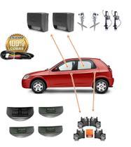 Kit Vidro Elétrico Sensorizado e Antiesmagante Celta 4 Portas E Travas Elétricas - Ideal