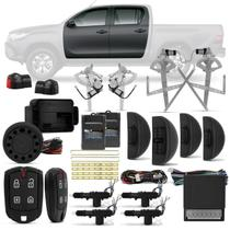 Kit Vidro Elétrico Toyota Hilux 2016 a 2018 Sensorizado 4 Portas + Alarme Pósitron e Trava Elétrica - Kit Segurança