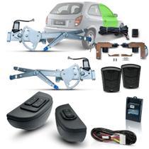 Kit Vidro Eletrico + Trava + Alarme Celta 2 Portas ( 2001 - 2005 ) Inteligente - Dial