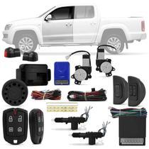 Kit Vidro Elétrico Vw Amarok 2011 a 2018 Dianteiro Sensorizado + Alarme Pósitron e Trava Elétrica - Kit Segurança