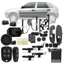 Kit Vidro Elétrico Vw Gol Parati G3 2000 a 2005 Sensorizado + Alarme Pósitron e Trava Elétrica - Kit Segurança