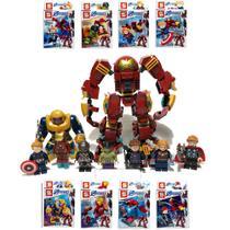 Kit Vingadores Ultimato Hulkbuster 8x Blocos de Montar Boneco Bigfigure SY-6399 -