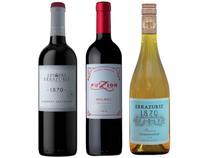 Kit Vinho Tinto Seco Zuccardi e Errazuriz - com Vinho Branco Seco Errazuriz 750ml 3 Unidades