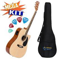 KIT Violão Eletrico Folk Aço GE30NT Harmonics -