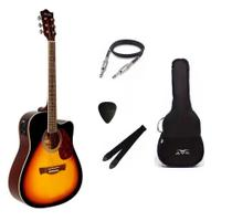 Kit Violão Tagima Memphis dreadnought aço MD18 Sunburst -