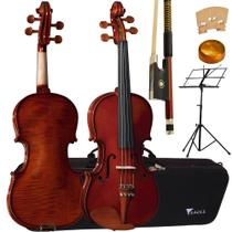 Kit Violino 3/4 Envernizado VE431 Eagle Com Estante