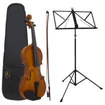 Kit Violino AL-1410 3/4 Alan + Estante Para Partitura S2 -