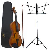 Kit Violino AL-1410 4/4 Alan + Estante Para Partitura S1 -