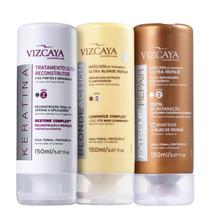 Kit Viscaya Cronograma Capilar Ultra Repair (3 Produtos) - Vizcaya