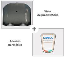 Kit Visor Acquaflex/stilo Fumê + Adesivo Hermético - Libell -