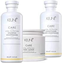 Kit Vital Nutrition (1 shampoo 300ml+ 1 condicionador 250ml+ 1 máscara 200ml) - Keune