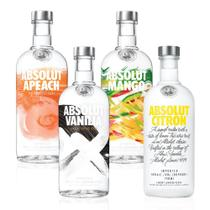 Kit Vodka Absolut Flavors Completo - Drinks&Co