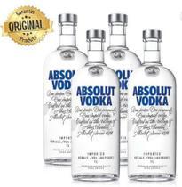 Kit Vodka Absolut Original 1l - 4 Unidades -