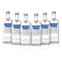 Kit Vodka Absolut Original 1L - 6 Unidades -