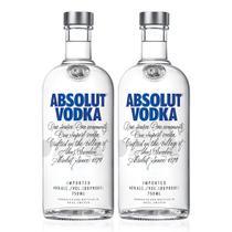 Kit Vodka Absolut Original 750ml - 2 Unidades -