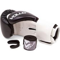 Kit Vollo Luva De Boxe + Protetor Bucal + Bandagem - 10oz -