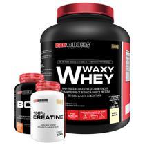 Kit Waxy Whey 2kg Baunilha + BCAA 4,5 100g + 100% Creatine 100g  Bodybuilders -